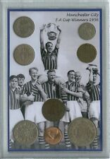 Manchester City Man MCFC Vintage FA Cup Final Winners Retro Coin Gift Set 1956