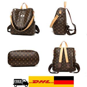 Damen Rucksack Leder Damentasche Frauenrucksack Mädchen Rucksack Shopper Neu