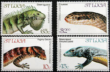 St Lucia – 1984 – Endangered Wildlife (Lizards) Set – SPECIMEN (MNH) (Se1)