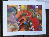 Marcus Glenn Love That Jazz Signed Seriolithograph with COA