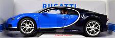 Bugatti Chiron blau-schwarz Maßstab 1:18 von bburago