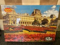 VINTAGE THE LOUVRE PARIS 2000 PIECE JIGSAW PUZZLE PHILMAR NEW SEALED