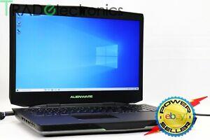 "(✅B) Alienware M17X 17.3"" i7 4900MQ 32GB 256GB SSD +750GB HDD Win10 DVD Gaming"