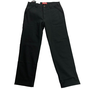 NWT $85 Coleman Dark Gray Fleece Lined Stretch Work Pants Men's Size 34W 32L