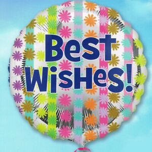 """17"""" Foil Birthday Party Balloon Best Wishes Good Luck Well"""
