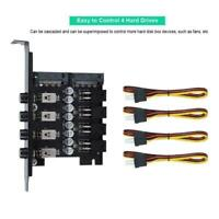 4 Channel HDD Hard Drive Power Supply Switch Select Control Module SATA For PC