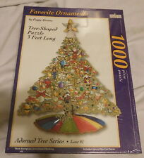 New Favorite Ornaments Tree shaped Puzzle 3 Feet Long 1000 Pieces Christmas 3106