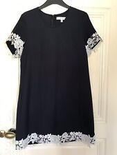 Rare London TOPSHOP Concession Navy Blue Lace Shift Dress Size M 10 T-shirt