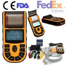 USA/FDA, Digital 1 Channel Handheld ECG/EKG Machine ECG80A, USB/Software/Printer