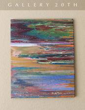 GORGEOUS! MID CENTURY MODERN ORIGINAL ABSTRACT OIL PAINTING! ART EAMES VTG