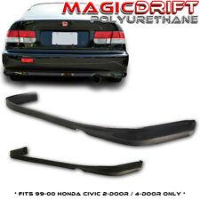 99-00 Honda Civic EK TypeR CTR REAR Bumper PU Lip 2DR 4DR (Urethane) Body Kit