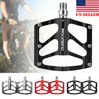 9/16 Ultralight Aluminum Bicycle Pedals 3 Sealed Bearings Mountain Bike Pedal US