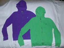 POLO Ralph Lauren 2 Fantastic Hoodies Knitted 100%Cotton-Size Medium-Purple/Lime