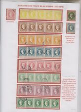 SERBIA,PRINCE MILAN stamps ,FORGERIES , (FERRARY ?) nice lot