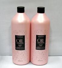 Matrix Oil Wonders Volume Rose Shampoo Conditioner 33.8 oz Liter Set Fine Hair