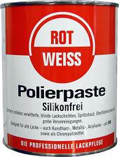 ROTWEISS Polierpaste 750ml (19,87€/l) Lackpolitur u. Chromreiniger