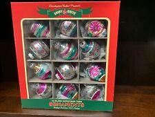 Radko Celebrations Christmas Glass Set Of 12 Glass New 2 1/4 Inches