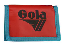 MENS / BOYS GOLA CLASSIC NYLON WALLET WITH ZIP COIN POCKET - RED / NAVY / BLUE