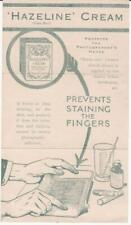 Hazeline Cream for Photographers Hands 1920 vintage handbill ephemera Brochure