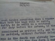 WW2 (1943) British Army Document relating to Brigadier W.H.York - (PAI Force)