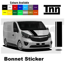Bonnet Sticker Stripe Decal Vinyl Graphic for Vauxhall Vivaro Trafic Primastar