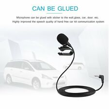 3.5mm Jack Plug Mini Wired External Audio Microphone Stick-on for Car & Camera