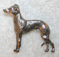 ITALIAN GREYHOUND Grey Hound Dog Fine PEWTER PIN Jewelry Art USA Made