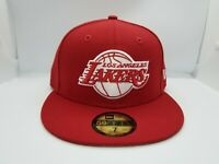 NEW ERA 59FIFTY FITTED HAT.  NBA.  LOS ANGELES LAKERS.  RED.