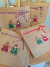 Gingerbread Gift Bags, With hand Embellished detail
