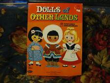 Vintage Whitman Paper Doll Book~1963~Dolls Of Other Lands~Uncut Stellar Interior