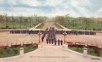 1910 Police Drill Garfield Park Chicago Illinois Hammon postcard 184