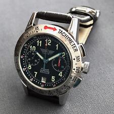 Poljot Aviator Chronographe 3133 russe Verre Mouvement d'Horlogerie de Genève Col rodé