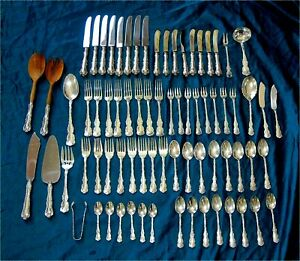 Louis XV By Birks Sterling Silver Flatware for 8 - 74 pieces 1967 grams