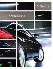 2007 07 Honda Accord Coupe   original brochure MINT