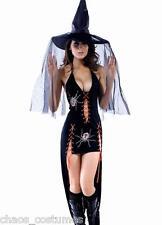 Sexy Gothic Vampire Dark Angel Underworld Spider Bride Halloween Costume 8 - 12