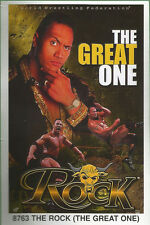 The Rock the great one Original Funky Posters Wrestling MINI Promo Piece 3x5