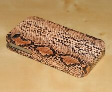 Real Flip Faux Snake Leather Case Cover for iPhone 4 4S