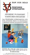 PUBLICITE ADVERTISING 044 1968 V33 peintures vitrifiantes pour vos sol