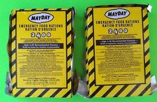 Lot of 2 Mayday-2400 Calorie Survival Emergency Food Bar Bug Out Bag Prepper