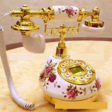 Pastoral European Style Ceramic Retro Telephone Porcelain Hotel Bedroom Phone