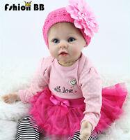 22'' Handmade Lifelike Baby Girl Doll Silicone Vinyl Reborn Newborn Dolls