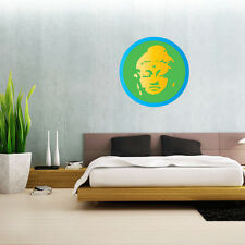 "Buddha Lotus Flower Wall Decal Large Vinyl Sticker 23"" x 23"""