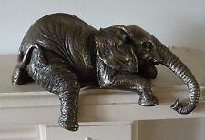 Harriet Glen Bronze Elephant Shelf Sitter Sculpture  Figure Ornament
