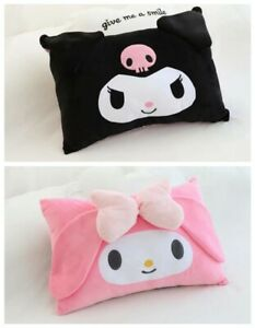 2pcs Cute My Melody & Kuromi Friends Pillow Case Cover Soft Bedroom Pillowcases