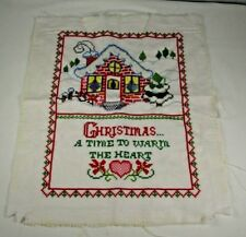 Vtg Complete Bucilla Counted Cross Stitch Sampler 48647 Christmas Warm The Heart