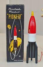 VINTAGE ATOMIC SPACE AGE MINIMAN PIONEER ROCKET TRANSISTOR RADIO 50s OLD NOS MT