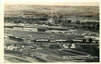 Billings Montana Birdseye Midland Empire Fairgrounds 1940s Photo Postcard 11573