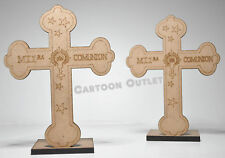10 X FIRST COMMUNION WOOD CROSS FAVORS GIFTS BOY GIRL RECUERDOS UNISEX COMUNION