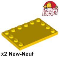 4x Tile Modified 4x6 studs on edge noir//black 6180 NEUF Lego