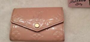 💕Louis Vuitton 6 Key Holder Monogram Vernis Leather Rose Ballerine💕